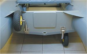 Как сделать транцевые колеса на лодку пвх