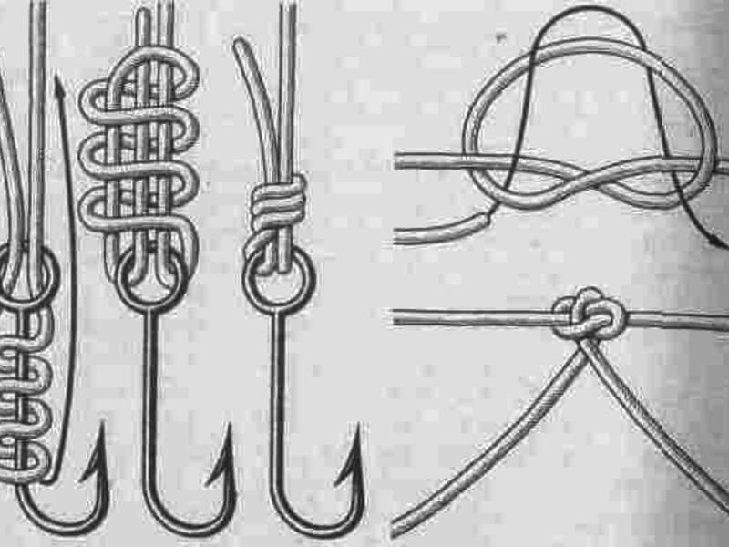 Вязание рыболовного крючка узлы 57