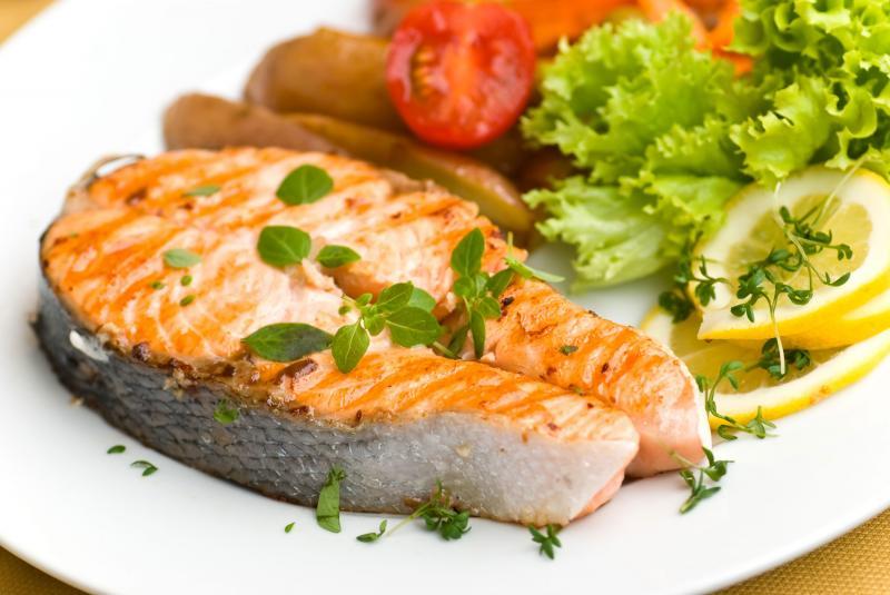Блюдо из красной рыбы